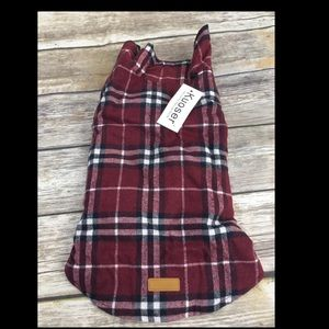 Flannel pet coat